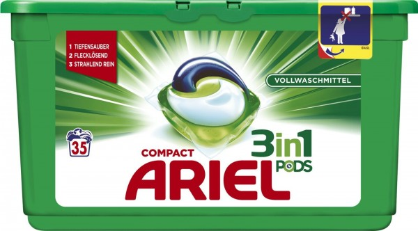 Ariel 3in1 Pods Vollwaschmittel 35WL VE=3