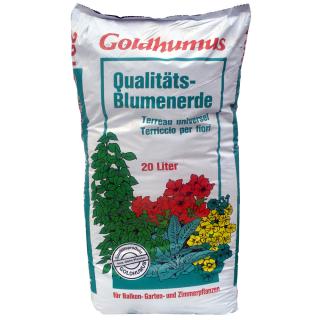 Blumenerde Goldhumus 20 ltr. PAL=120 Btl.