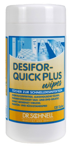 Dr. Schnell Desifor Quick Plus Wipes 120 VE=12