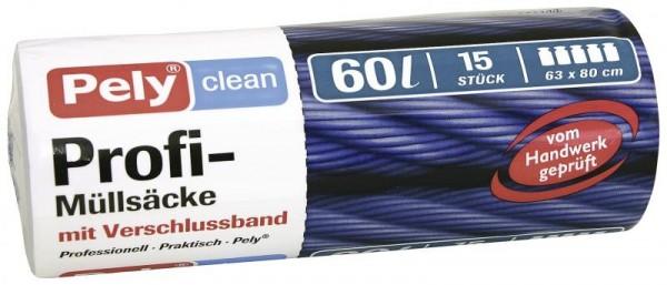Mülleimerbeutel 60ltr. Pely Clean 15St. VE=13