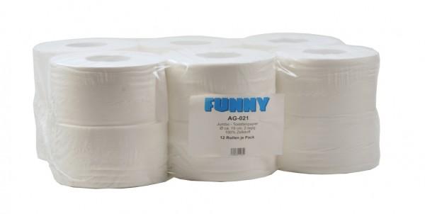 Toilettenpapier Jumbo Funny 2-lg. 12 Stück