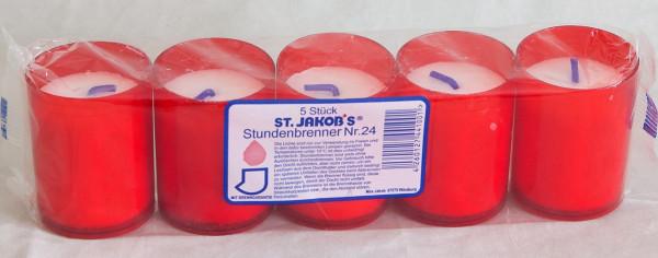 Grablichter St. Jakobs Nr. 24 rot 150 Stück