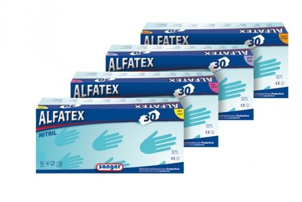 Einmalhandschuh Alfatex, blau 30 groß 100 St. VE=10