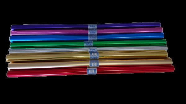 RESTPOSTEN Alu Doppelfolien zum Basteln 80cmx50cm100 Rollen verschiedene Farben