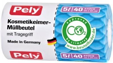 Pely Kosmetikeimer-Müllbeutel 5 ltr. VE= 20